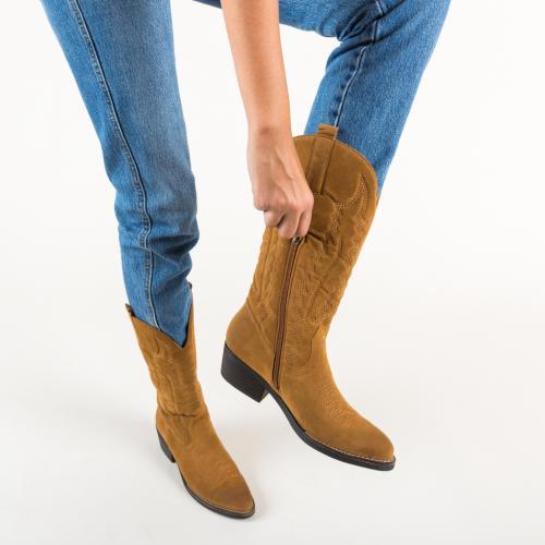 Cizme Billie Camel - Cizme femei - Cizme sub genunchi