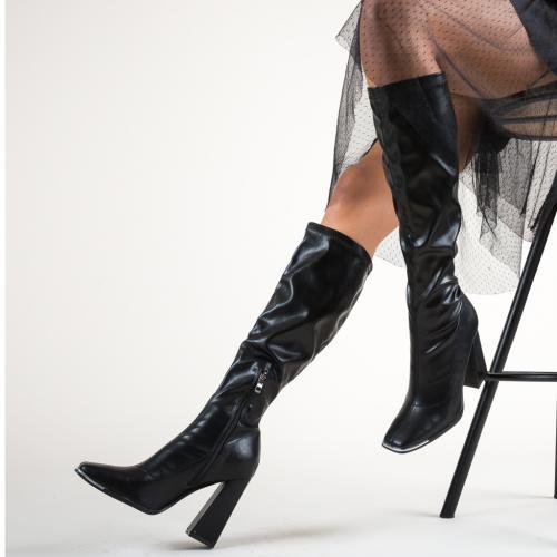 Cizme Duke Negre - Cizme femei - Cizme toc gros