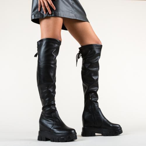 Cizme Emelia Negre - Cizme femei - Cizme peste genunchi