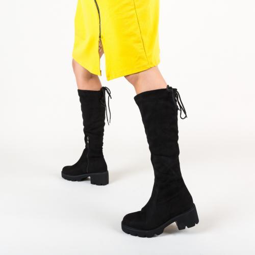 Cizme Hale Negre 2 - Cizme femei - Cizme sub genunchi