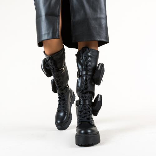 Cizme Kangoo Negre - Cizme femei - Cizme sub genunchi