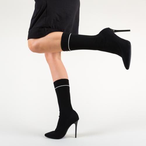 Cizme Knox Negre - Cizme femei - Cizme toc subtire