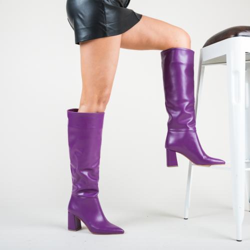 Cizme Socami Mov - Cizme femei - Cizme sub genunchi