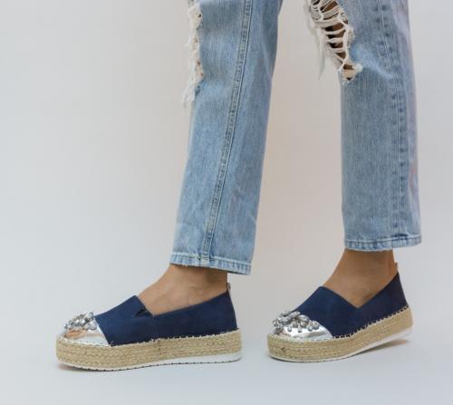 Espadrile Bostin Albastre - Pantofi casual dama - Pantofi casual