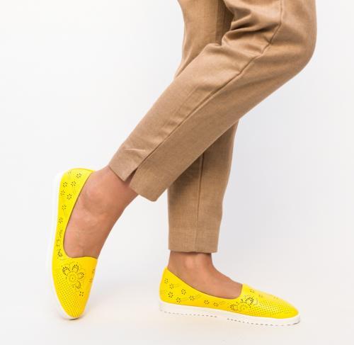 Espadrile Casual Milye Galbene - Pantofi casual dama -