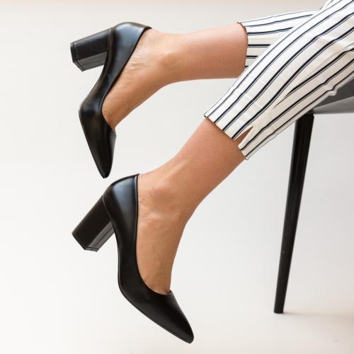 Pantofi Allman Negri - Pantofi - Pantofi cu toc gros