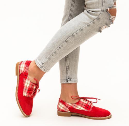 Pantofi Casual Biskrem Rosii - Pantofi casual dama - Pantofi casual