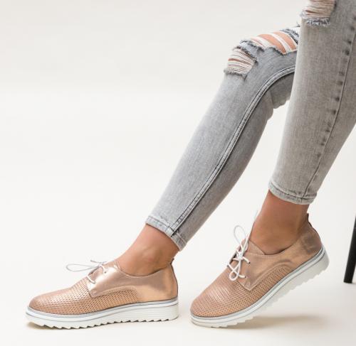 Pantofi Casual Dropin Aurii - Pantofi casual dama - Pantofi casual