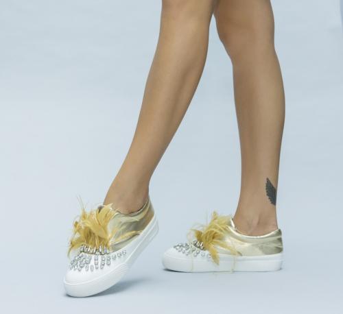 Pantofi Casual Rino Aurii - Pantofi casual dama - Pantofi casual
