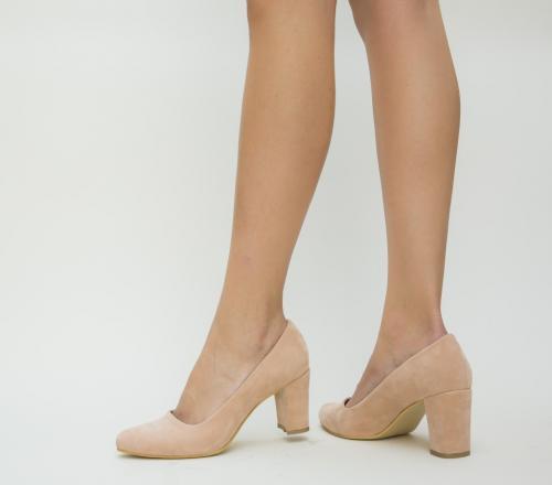 Pantofi Casy Roz 2 - Pantofi - Pantofi cu toc gros