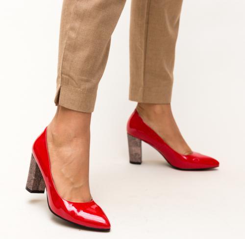Pantofi Chen Rosii - Pantofi - Pantofi cu toc gros