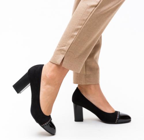 Pantofi Darla Negri 2 - Pantofi - Pantofi cu toc gros