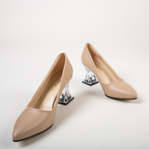 Pantofi Garnet Bej - Pantofi - Pantofi cu toc gros