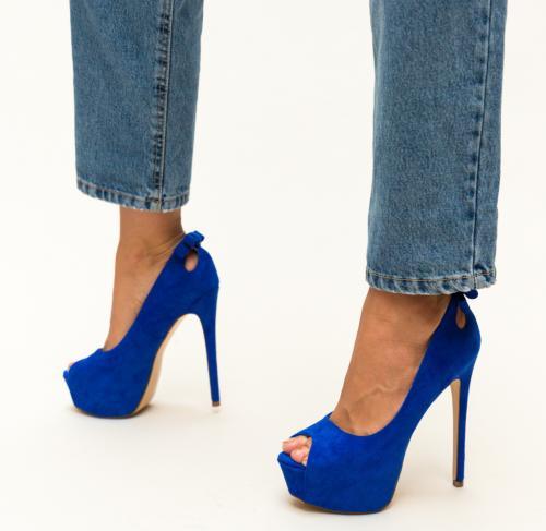 Pantofi Huda Albastri - Pantofi - Pantofi cu platforma