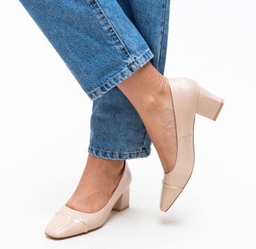 Pantofi Jack Bej - Pantofi - Pantofi cu toc mic