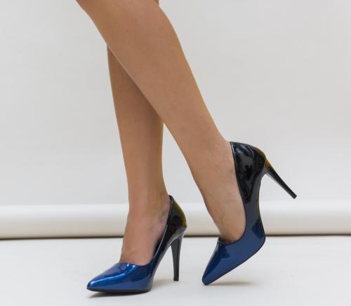 Pantofi Kalifa Albastri - Pantofi - Pantofi cu toc subtire