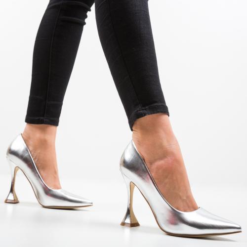 Pantofi Lena Argintii - Pantofi -