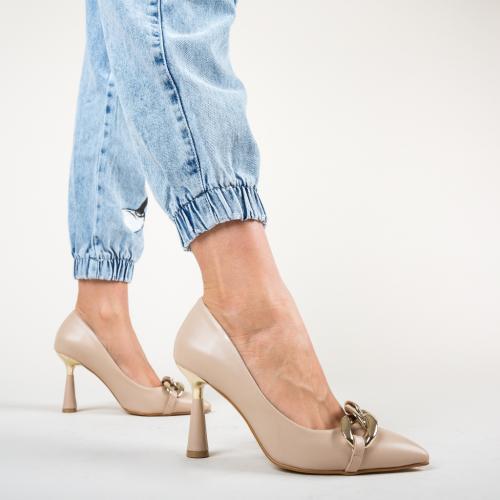 Pantofi Link Bej - Pantofi - Pantofi cu toc subtire