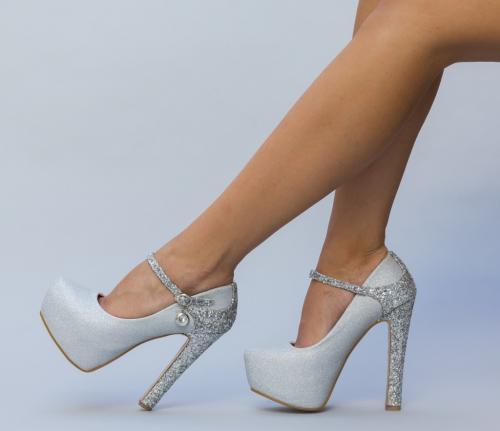 Pantofi Magusta Argintii - Pantofi -