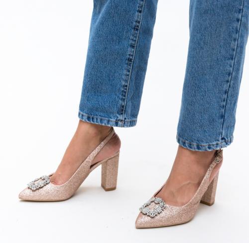Pantofi Nina Aurii - Pantofi - Pantofi cu toc gros