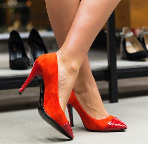 Pantofi Silas Rosii - Pantofi - Pantofi cu toc subtire