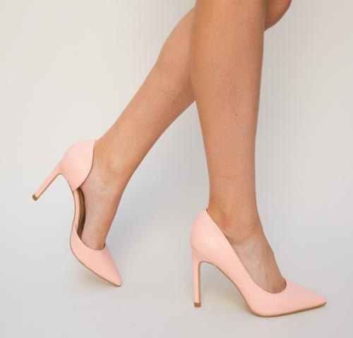 Pantofi Simin Roz - Pantofi - Pantofi cu toc subtire