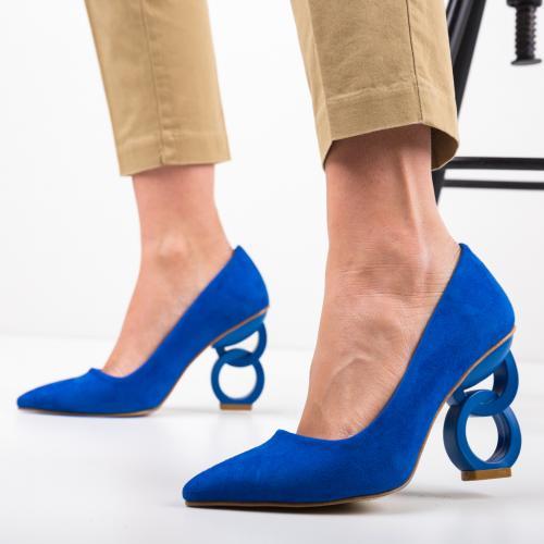 Pantofi Simoni Albastri - Pantofi - Pantofi cu toc subtire