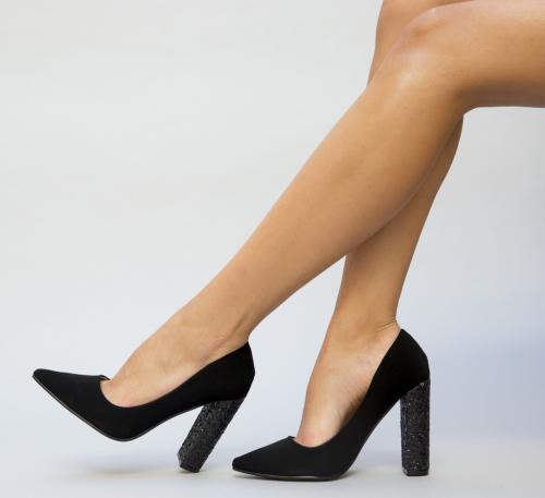 Pantofi Sopo Negri - Pantofi - Pantofi cu toc gros