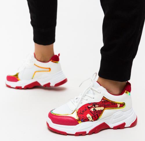 Pantofi Sport Ementin Rosii - Pantofi sport - Pantofi sport