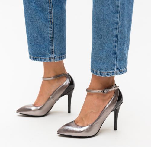 Pantofi Stark Argintii - Pantofi - Pantofi cu toc subtire