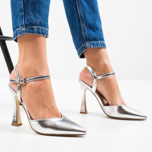 Pantofi Trop Argintii - Pantofi -
