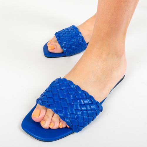 Papuci Peoria Albastri - Sandale dama - Slapi