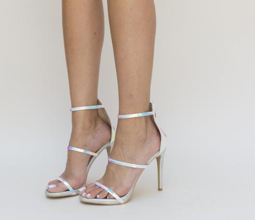Sandale Argira Roz - Sandale dama - Sandale cu toc subtire