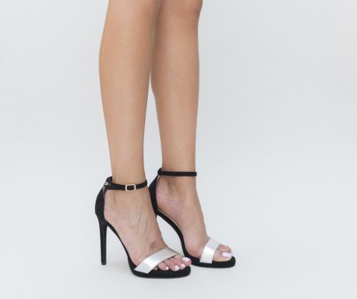 Sandale Berga Negre 2 - Sandale dama - Sandale cu toc