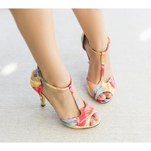 Sandale Borino Corai - Sandale dama - Sandale cu toc