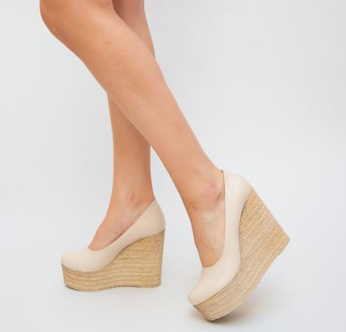 Sandale Degeb Bej - Sandale dama - Sandale platforma