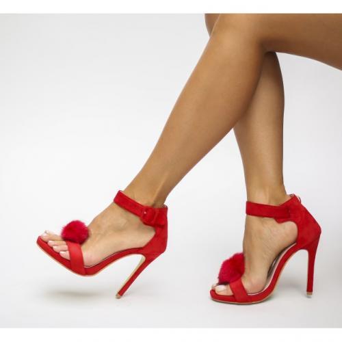 Sandale Kely Rosii - Sandale dama - Sandale cu toc subtire