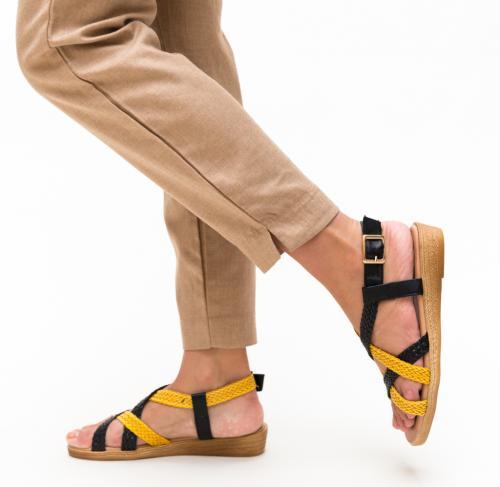 Sandale Nanie Negre 3 - Sandale dama - Sandale talpa joasa