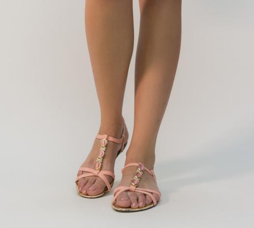 Sandale Onest Roz - Sandale dama - Sandale talpa joasa