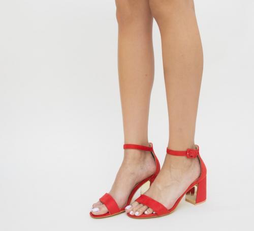 Sandale Samuela Rosii - Sandale dama - Sandale cu toc