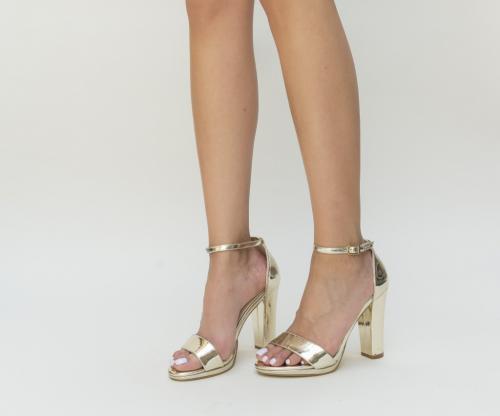 Sandale Silvana Aurii - Sandale dama - Sandale toc gros