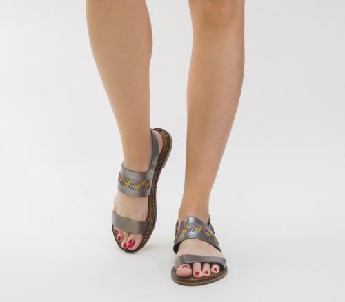 Sandale Yuhu Gri - Sandale dama - Sandale talpa joasa